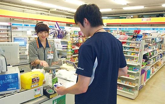 Berbelanja di convenience store denga suica