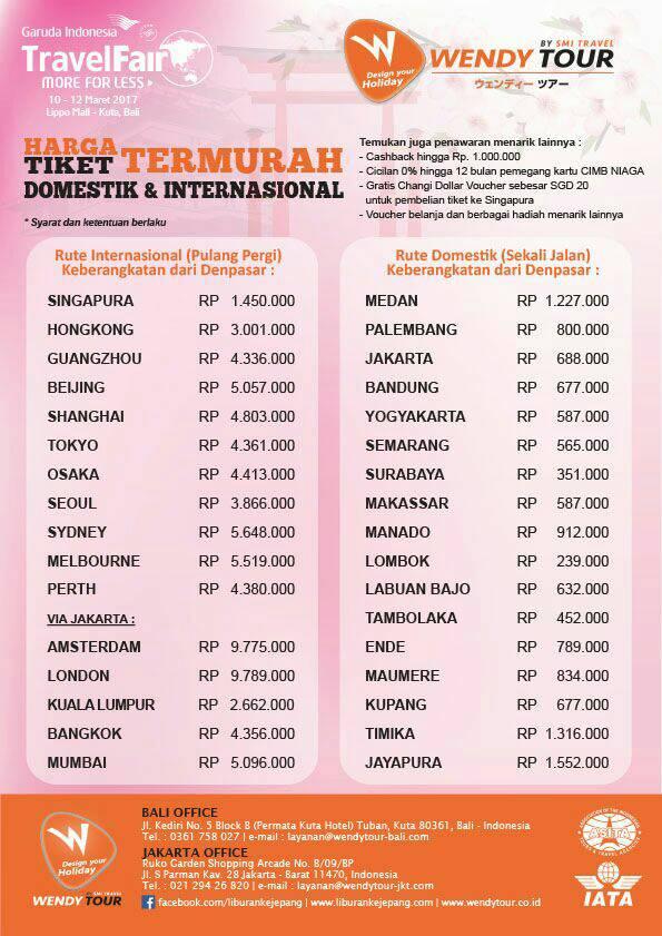 Jangan Lewatkan Garuda Travel Fair Di Lippo Mall Kuta Bali