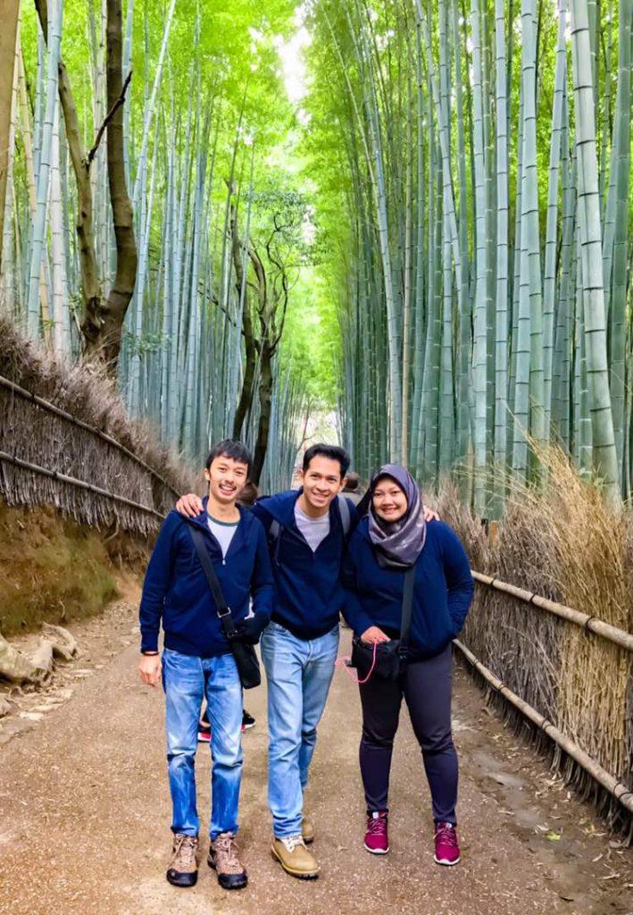 at Bamboo path Arashiyama, Kyoto