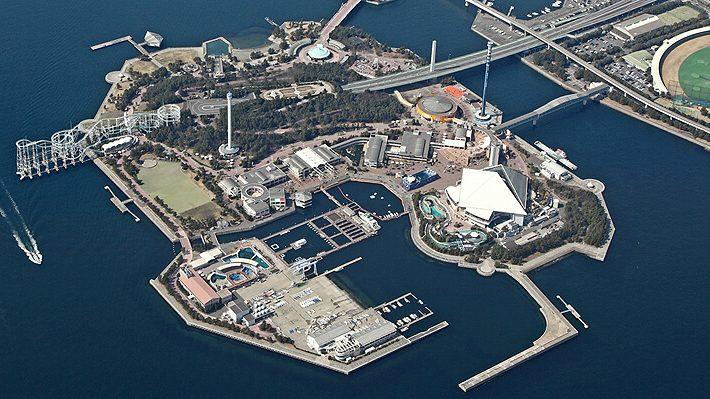Hakkeijima Sea Paradise tampak atas