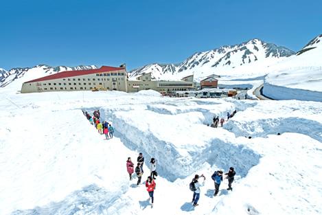 Snow Labyrinth di Tateyama Kurobe Alpine Route