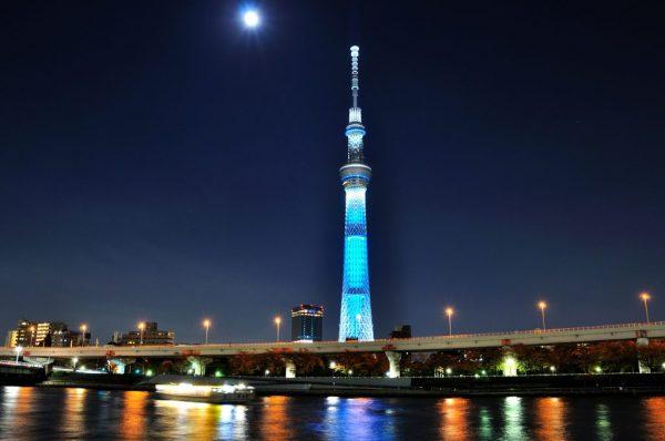 tokyo skytree night