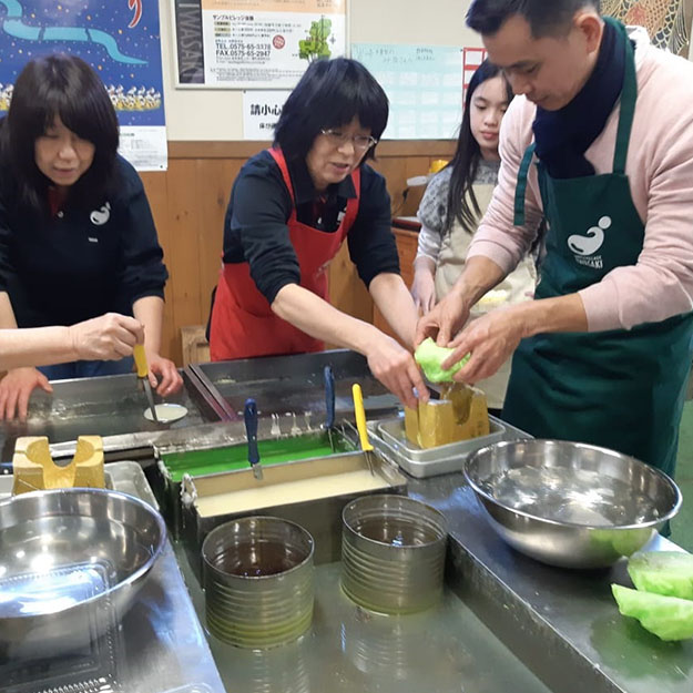 Gujo Hachiman City (Food sampple making experience)