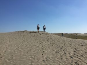 Hamparan bukit pasir di tengah kota.