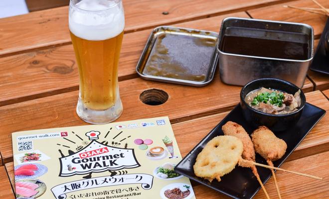 makanan di osaka gourmet walk